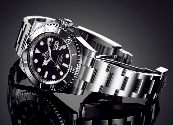 Replica-Rolex-Submariner-Black-Stainless-Steel-Watch