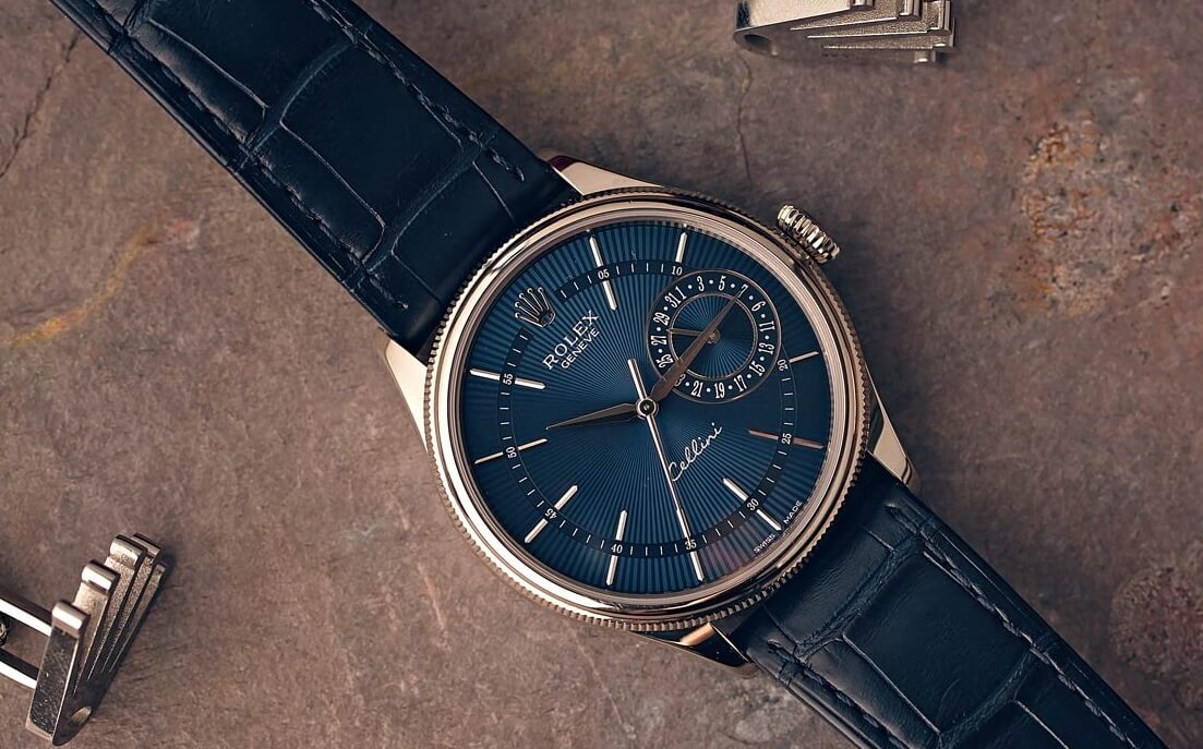 Elegant Replica Rolex Cellini Date 50519 With Blue Dial