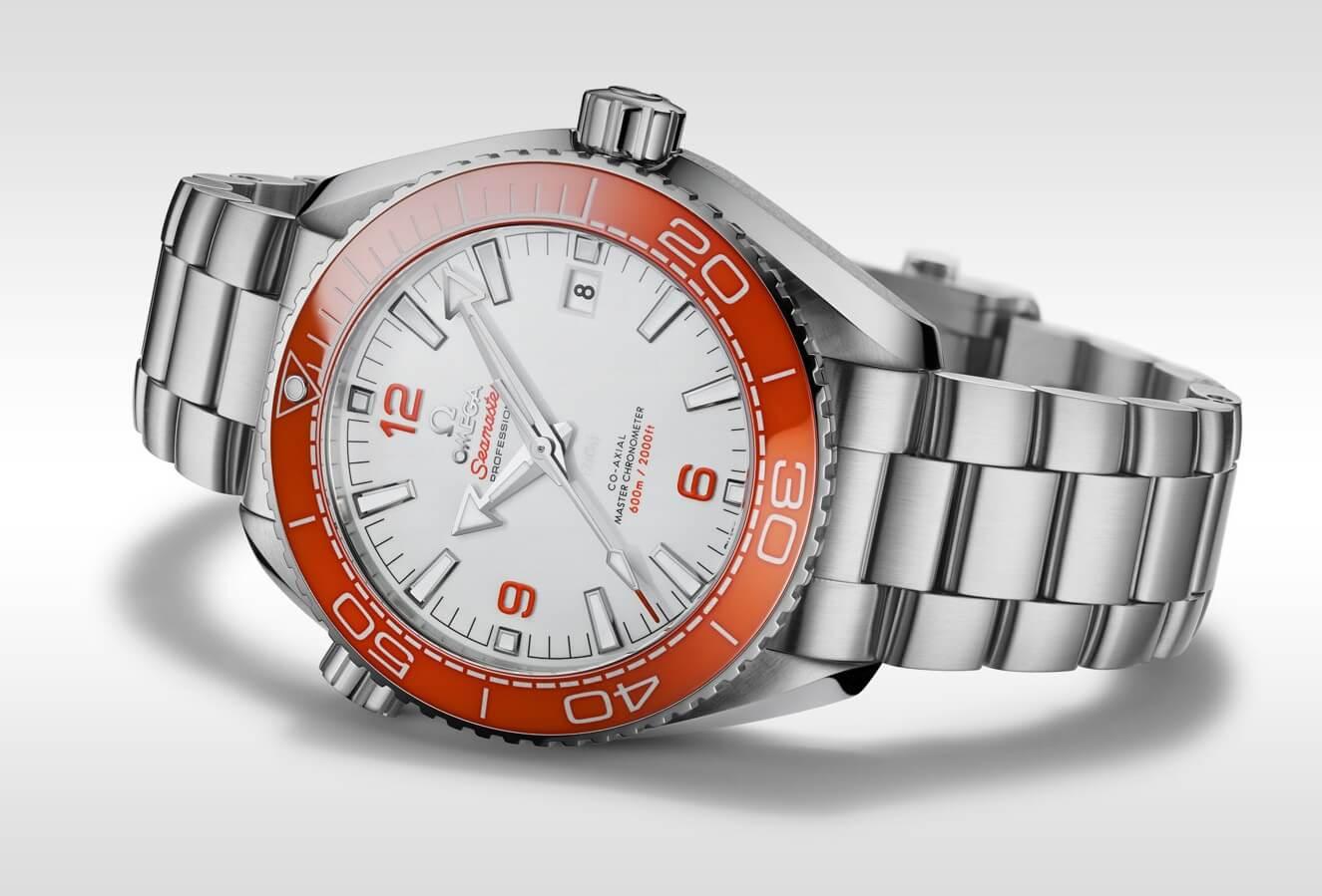 Fake Omega Seamaster Planet Ocean Watch With Orange Bezel