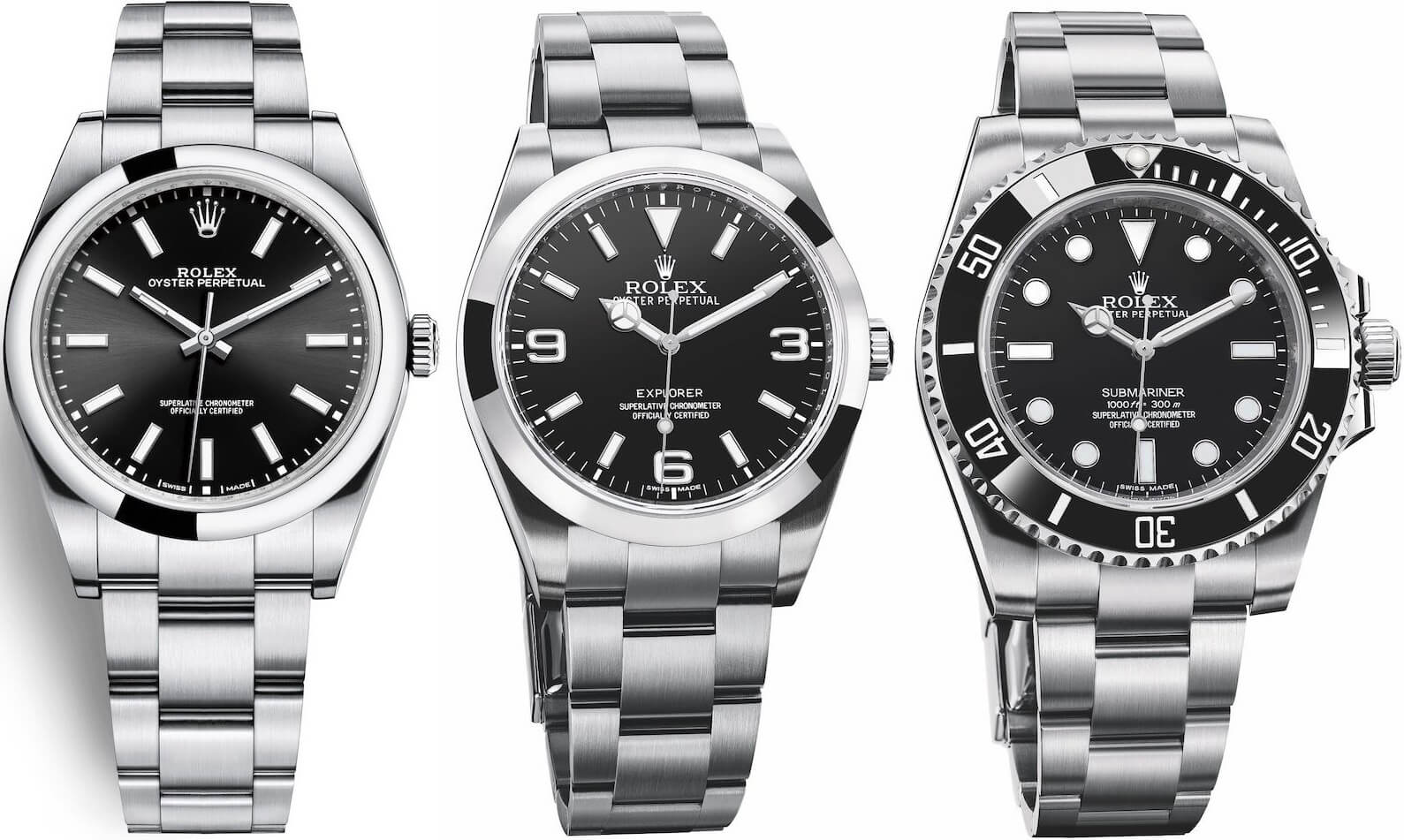 replica Rolex Explorer VS Submariner VS Oyster Perpetual 39