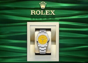 Imitation Rolex Oyster Perpetual yellow dial