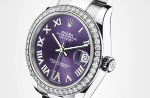 imitation Rolex Datejust 31 278384RBR aubergine dial